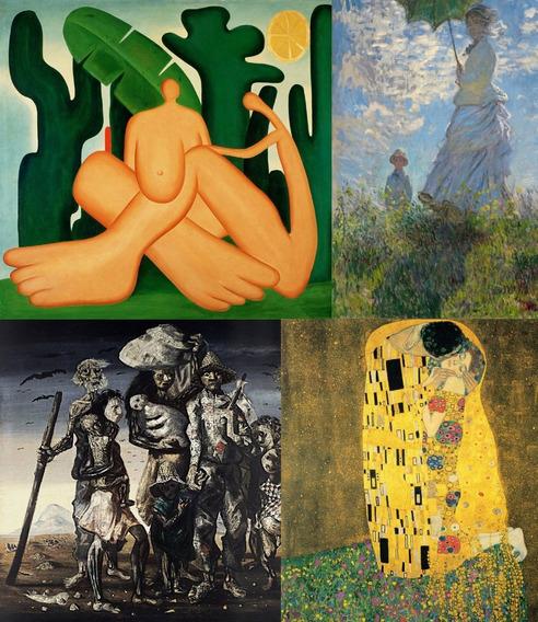 8 Poster Hd Obra Pintura Dali Da Vinci Delacroix Tarsila