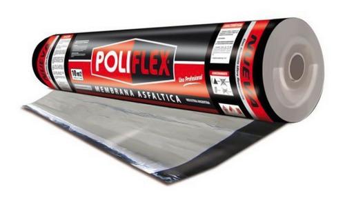 Imagen 1 de 2 de Membrana Asfáltica Poliflex 30kg, Con Alumino - Rollo 10m2