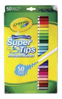 Crayola Super Tips Marcadores Lavables 50pz Produc Importado