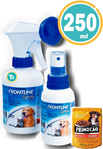 Frontline Plus Spray 250ml  + Salsa + Envío S/cargo