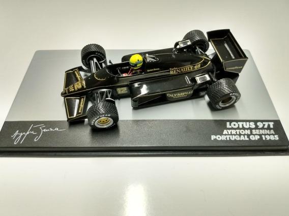 Miniatura Lotus Renault 97t - Ayrton Senna 1985