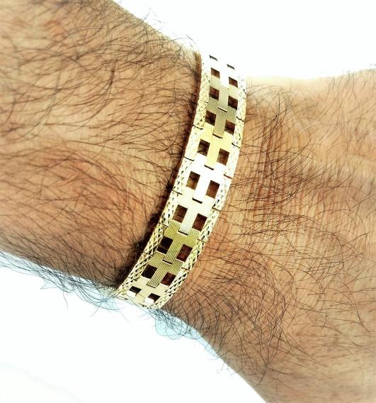 Pulseira Diamantada Masculina Banho Ouro 18k 1217