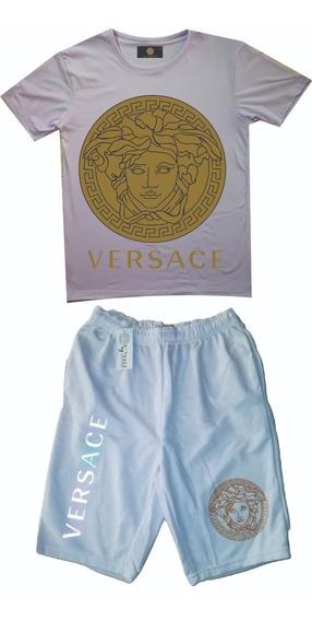 Conjuntos Deportivos Versace Para Hombre Pantaloneta Camiset