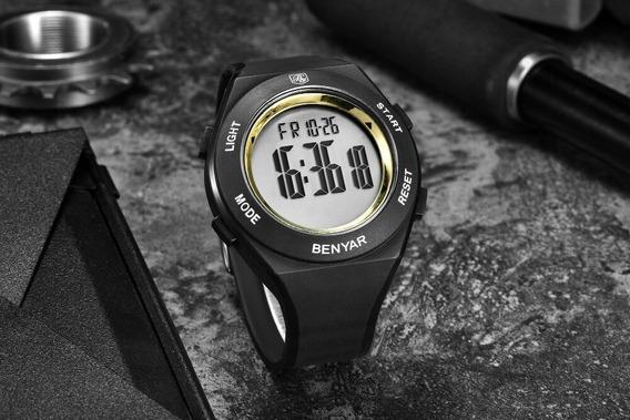 Relógio Benyar Digital Sport Cronometro Calendário F Grátis