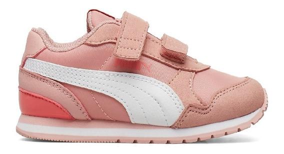 Zapatillas Puma St Runner V2 Nl Velcro Ros/bla Niñas/bebes