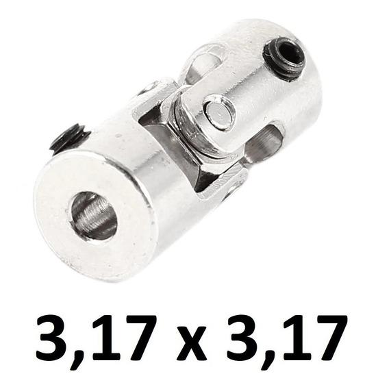 Acoplador Junta Aço 3mm Eixo Modelismo Mini Cardan Rc