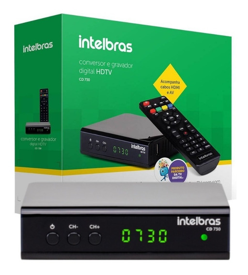 Conversor Digital De Tv Hdtv Com Gravador Intelbras Cd 730
