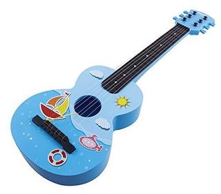 Juguete Guitar Rock Star 6 Cuerdas De Juguete Guitarra Instr