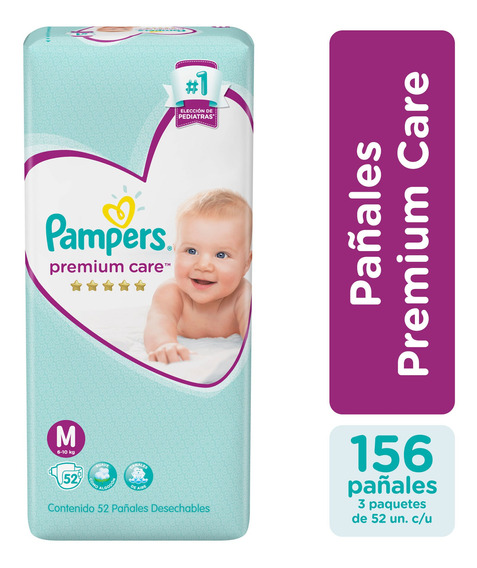 Pañales Pampers Premium Care Ver Talles Pack X3