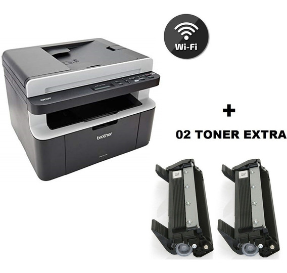 Impressora Brother Multifuncional Wifi Dcp-1617nw + 02 Toner