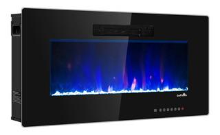 Chimenea Electrica Empotrable Decorativa 50pLG Flama Colores