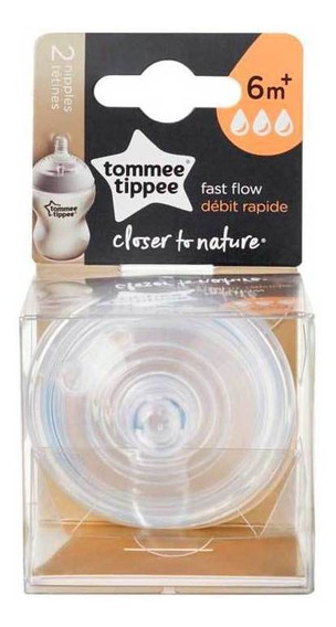 Tetina Tommee Tippee Closer To Nature Flujo Rápido X2