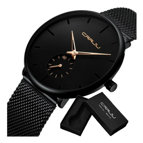 Relógio Masculino De Pulso Crrju Original À Pronta Entrega