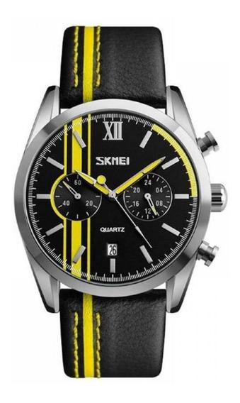Relógio Masculino Skmei Analógico 9148 Amarelo