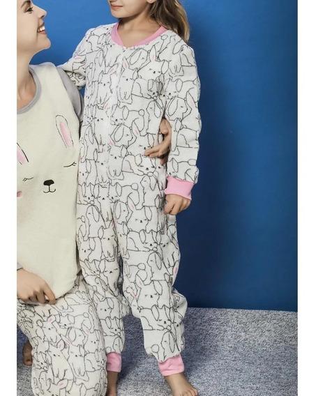 Pijama Mameluco Girls Nena Conejo Dulce Sueños Happy 1375459