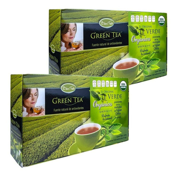 Paquete Dúo Antioxidante Te Verde Orgánico Zen Tea