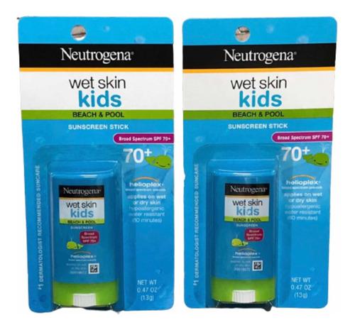 Neutrogena Wet Skin Kids Fps 70+ Stick 2 Unidades