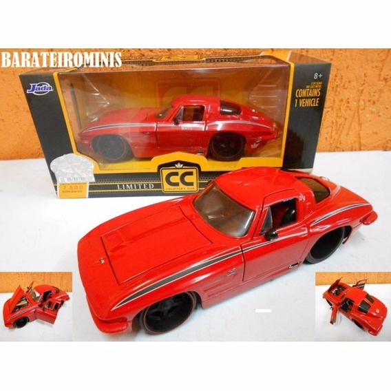 1:24 Jada Chevy Corvette 63 Cc Limit Edition Barateirominis