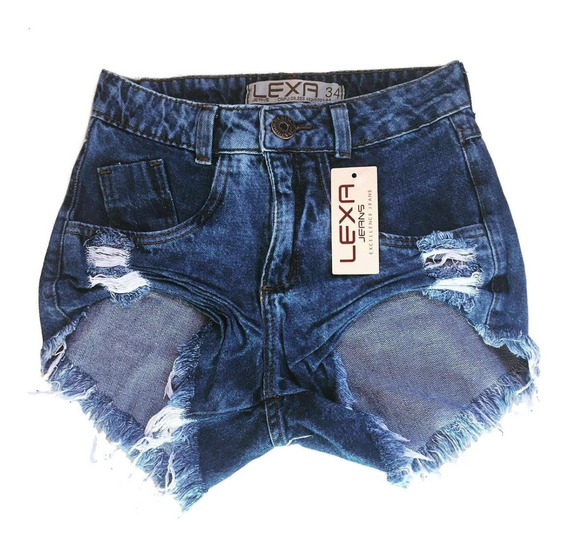 Kit 10 Shorts Jeans Feminino Atacado Cintura Alta Hot Pant