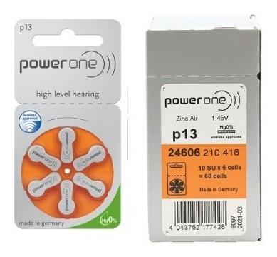 60 Baterias Pilha 13 Pr48 Aparelho Auditivo - Power One