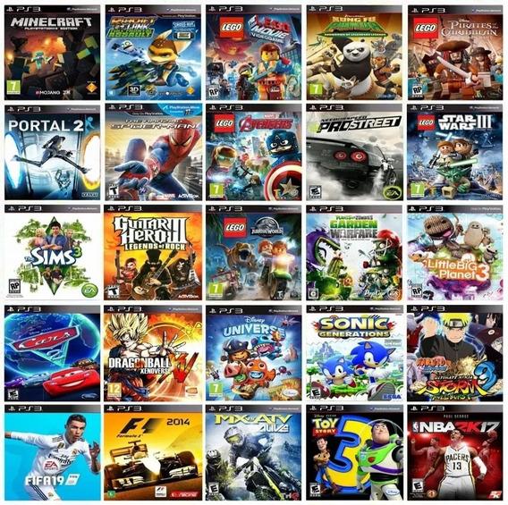 Pacote Com + De 10 Jogos Infantis Ps3 - Mídia Digital