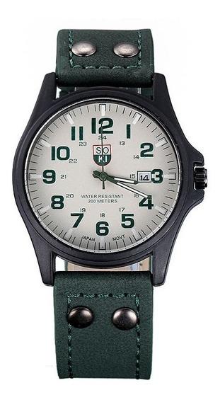 Relógio Masculino Quartzo Pulseira Em Couro Homens