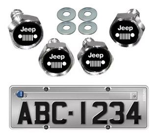 Kit 4 Parafusos De Placa Jeep Renegade Cherokee Compass