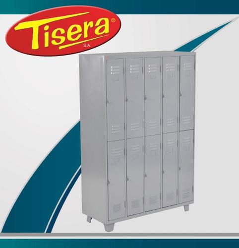 Imagen 1 de 2 de Guardarropa 10 Puertas Metalico Tisera Cerradura Gpc10