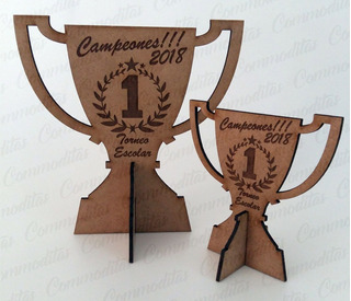 Trofeos Galvanos Mdf