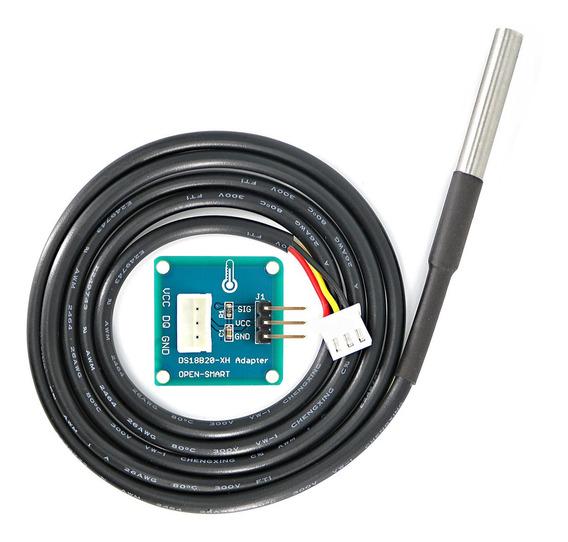 Sensor De Temperatura Ds18b20 Impermeável Com Módulo Adaptad
