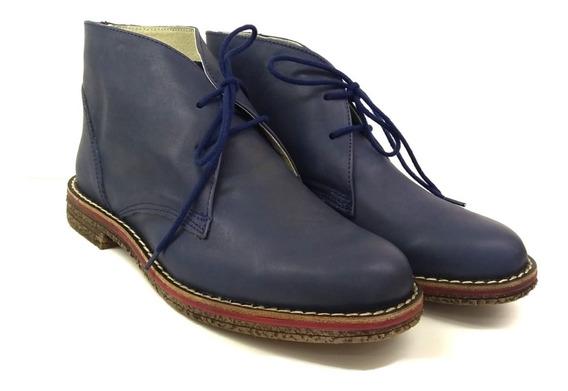 Bota Zapato Botita Hombre Cuero Vacuno
