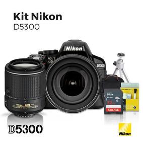 Câmera Nikon D5300 18-105mm + Lente Nikon 55-200mm Vr +kit