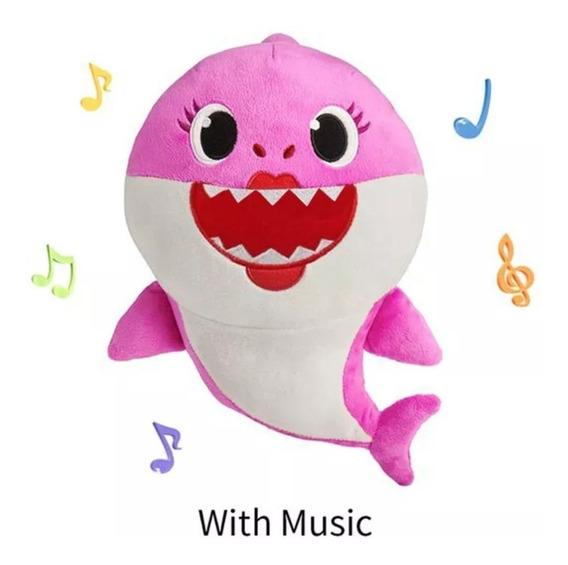Baby Shark Pelucia Musical Bebê Tubarão Crianças Com Bateria