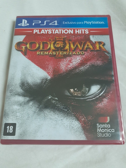 Jogo Ps4 God Of War 3 Mídia Física Lacrado Original
