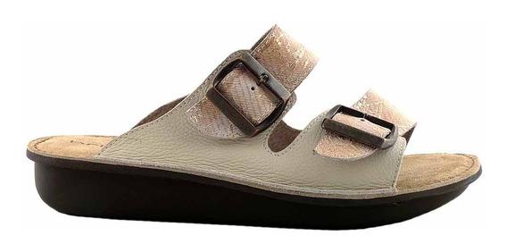 Chinela Mujer Cuero Briganti Zapato Confort Goma - Mcch26042