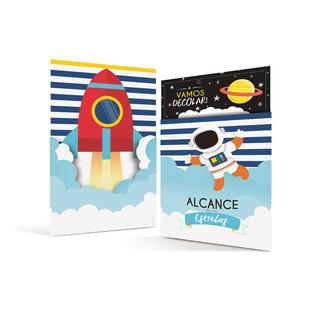 Acessórios Para Festa - Convites De Aniversário - Astronauta