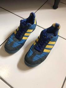 Tênis adidas Azul Com Amarelo Com Alguns Defeitos Tam. 37