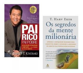 Kit Livros Pai Rico Pai Pobre + Segredos Da Mente Milionária