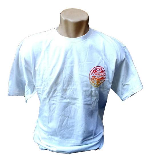 Camiseta Basica Masculina Off White Vermelha Manga B6416