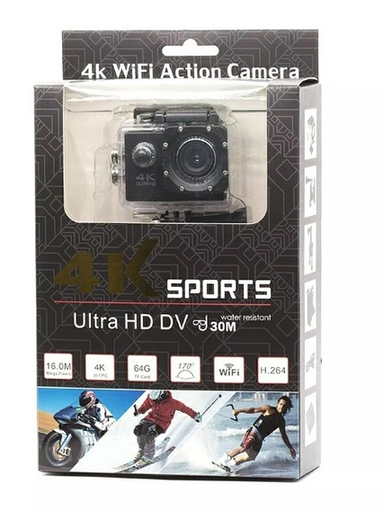 Camera 4k Wifi Action Sports Ultra Hd