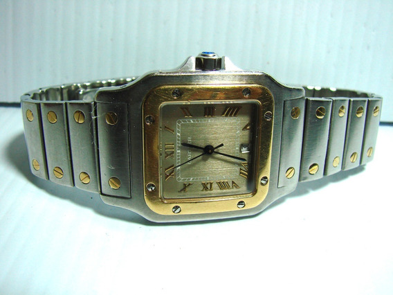 Reloj Cartier Santos Galbee Caratua Bronce #s Romanos