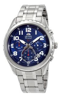 Orient Sport Cronografo Azul Acero Fkv01002d Fotos Reales