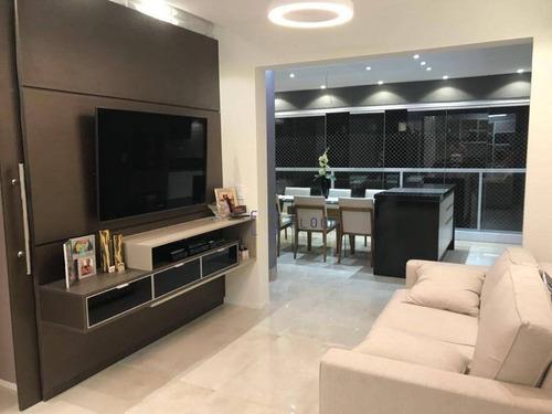 Imagem 1 de 30 de Apartamento No Wide Com Varanda Gourmet , 3 Dormitórios E 97 M² - Chácara Inglesa - São Paulo/sp - Ap12427