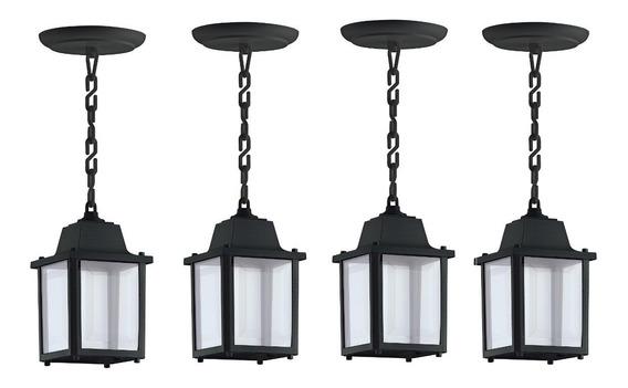 4 Luminaria Pendente Colonial Vintage Externa Preto Alz14