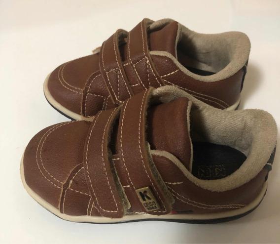 Sapatênis Tênis Sapato Klin Infantil Menino Marrom Usado