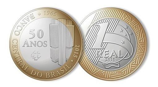 Moeda,1 Real,50 Anos Banco Central,comemorativa,tenho Outras