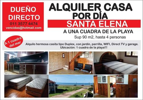 Alquiler Casa Santa Elena Mar Chiquita 1 Cuadra De La Playa