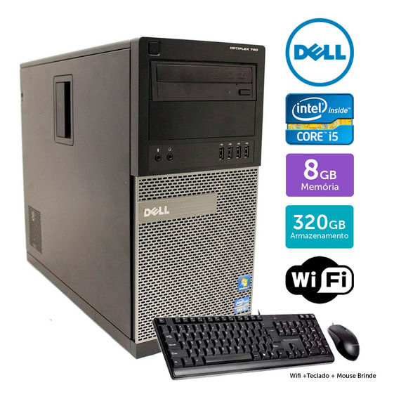 Computador Usado Dell Optiplex 790 I5 8gb 320gb Brinde