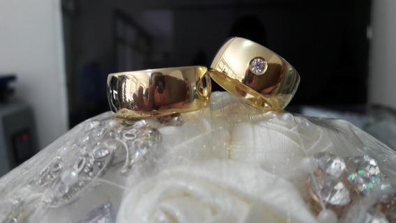 Alianças Matrimoniais Em Ouro 18 Quilates