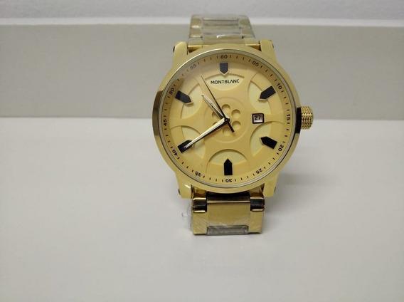 Relógio Analógico Montblanc Funcional Dourado